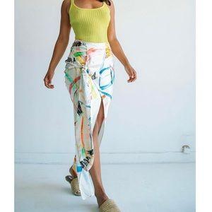 The Line by K Celia Scribble Skirt